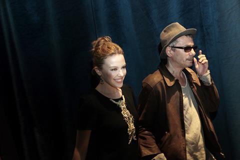 With Holy Motors, actress Kylie Minogue and director (and festival honoree) Leos Carax